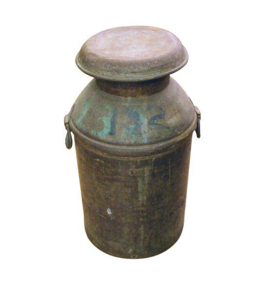 Antique distressed milk cans