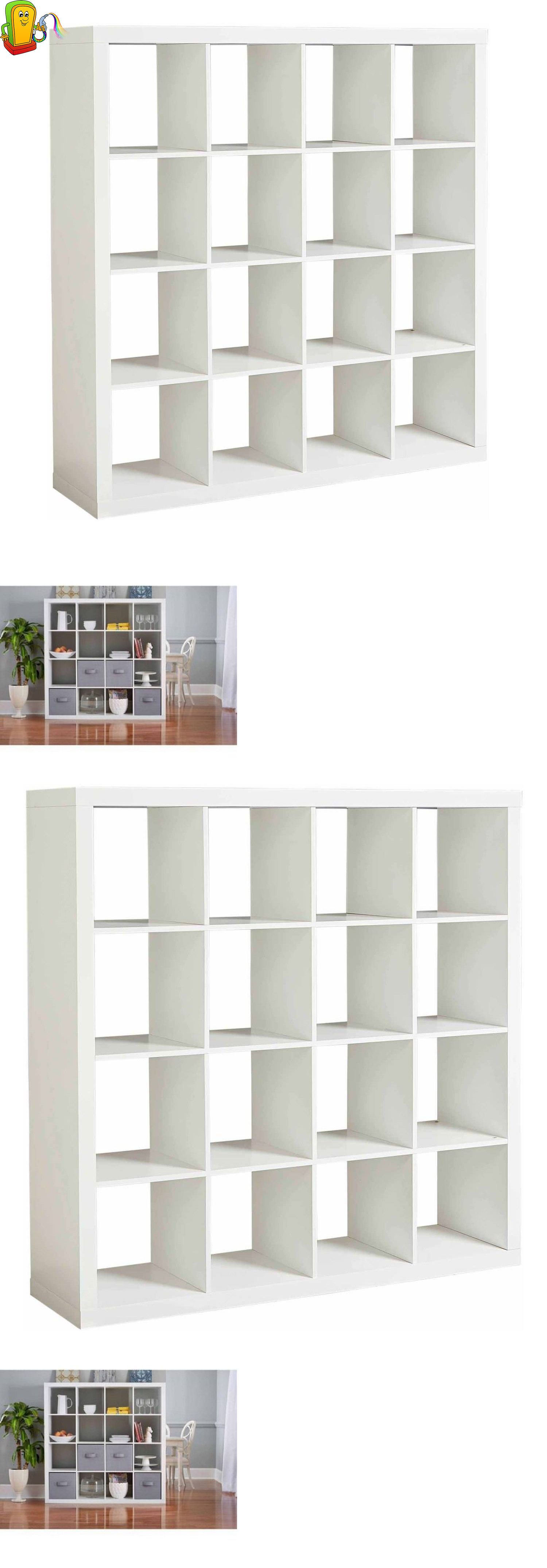 bookcases  modern storage cube organizer  cubbies shelves  - bookcases  modern storage cube organizer  cubbies shelves bookcasecloset white new