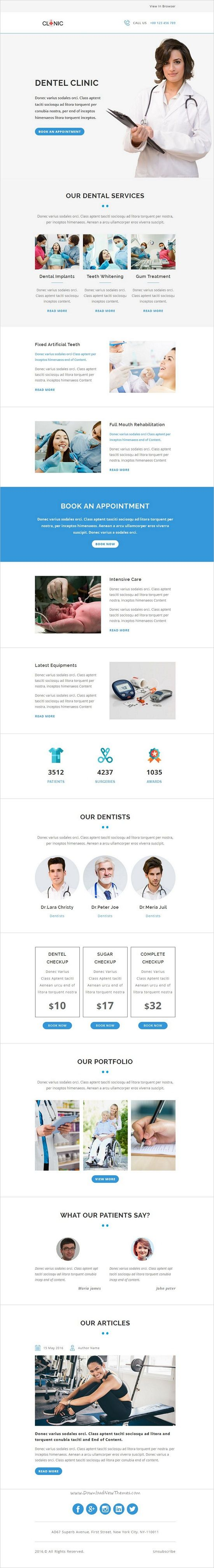 CLINIC is a multipurpose responsive #newsletter #email template suitable for any kind of healthcare, dental care, #hospital, #clinic and #medical business with StampReady, MailChimp & Campaign Monitor download now➩ https://themeforest.net/item/clinic-multipurpose-responsive-email-template-with-stampready-builder/19244024?ref=Datasata