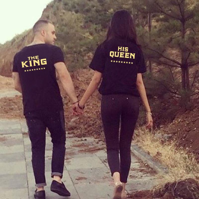 7dbf3ed7a Gold Lettering King & Queen T-Shirts in 2019 | Hoodies | King queen ...