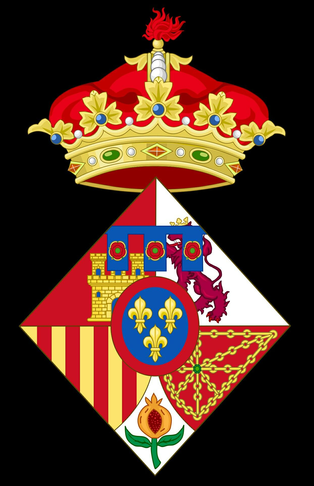 La Infanta Sofia Escudo De Armas Escudo Historia De Espana