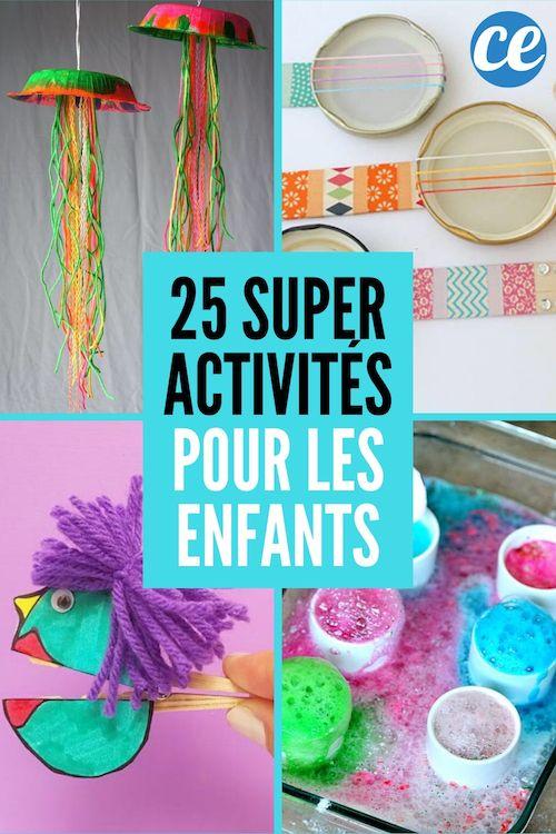 25 Super Activités Manuelles Pour Occuper Vos Enfants SANS Vous Ruiner.