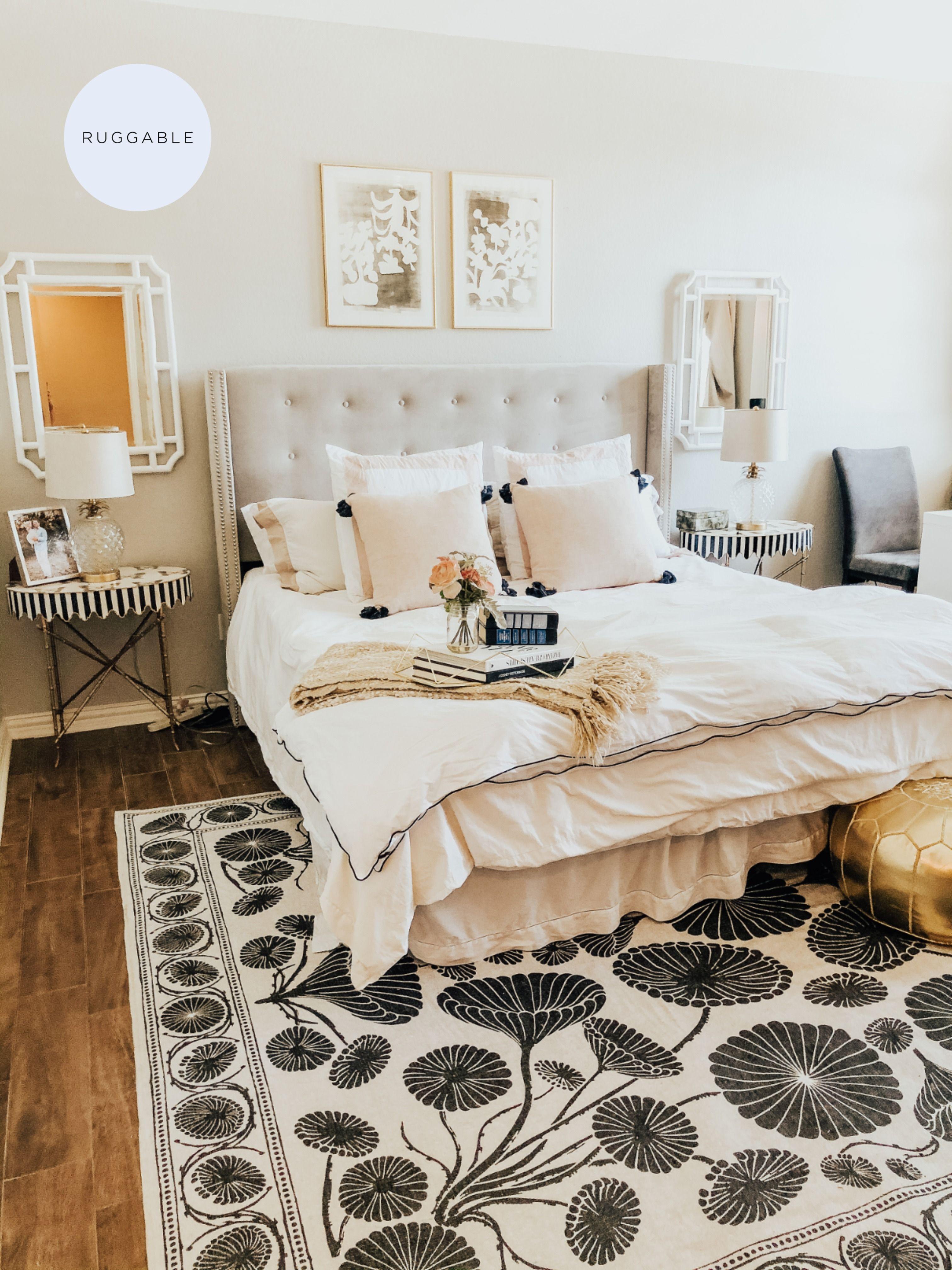 Cynthia Rowley Suzani White Rug Aesthetic Bedroom Apartment Decor Home Decor