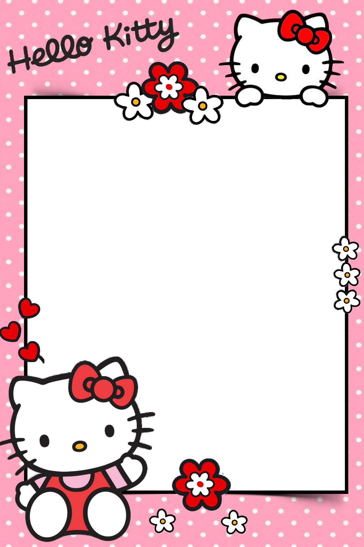 Frame For Children Png Hello Kitty Printables Hello Kitty Invitations Hello Kitty Backgrounds
