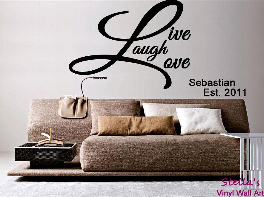 Live Laugh Love Large Vinyl Wall Art