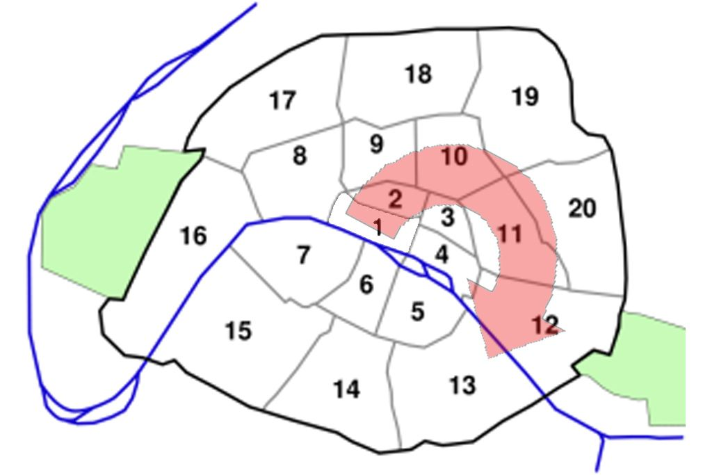 Guide To The Arrondissements Of Paris Districts Of Paris As Seen