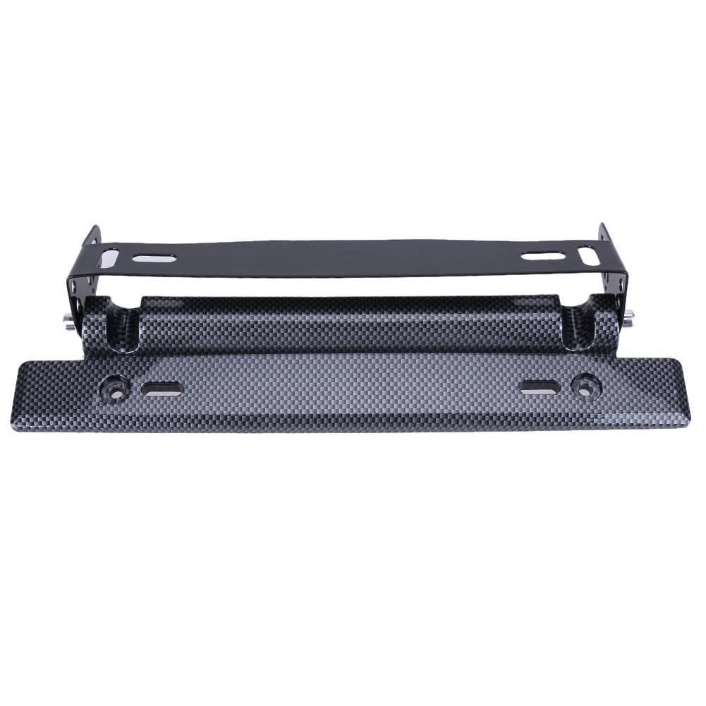 Universal Adjustable Car License Plate Frame Holder Carbon Fiber ...