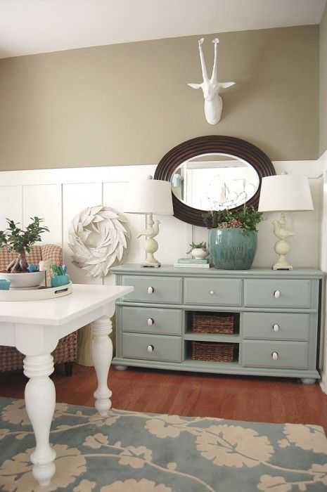 "like the painted furniture  Hear its a ""Great home decor blog! """