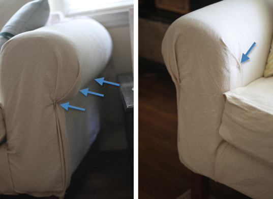 How To Recover A Sofa Without Sewing Blue Chair Bed Diy Drop Cloth Recovering For Under 50 Even Better Than Slipcover No Required
