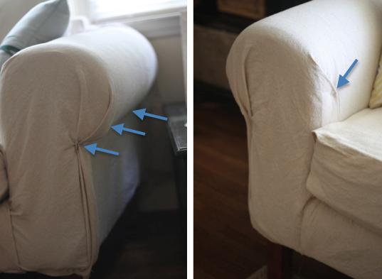 dropcloth no sew slipcover need upholstery pins
