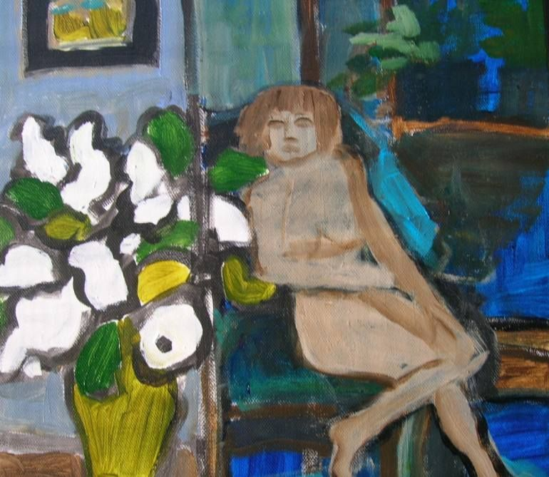 The Nude and the White Lilacs francoise Barnes