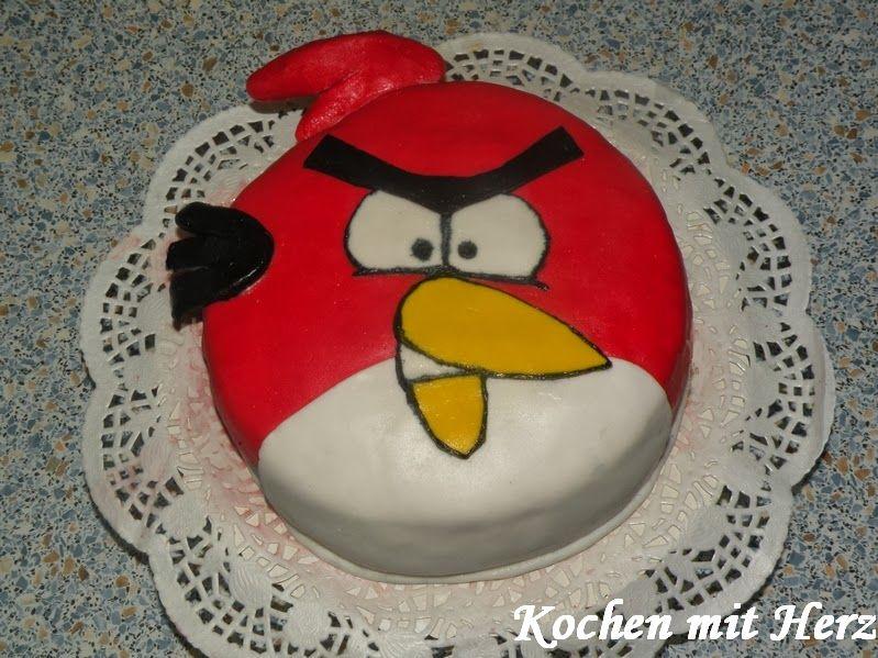 Kochen mit Herz: Angry Bird Torte