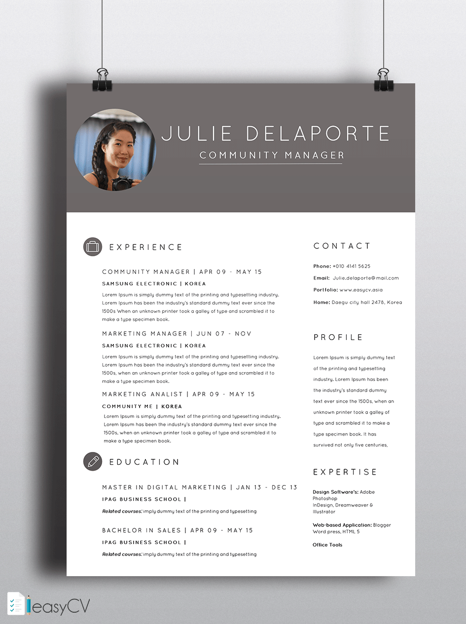 Most Of People Who Apply For A Job Have The Same Resume Design Same Certificate With Our Unique Template Ms Word Resume Design Templates Cv Resume Template