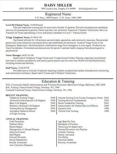 Pin by Job Resume on Job Resume Samples Resume, Nursing resume