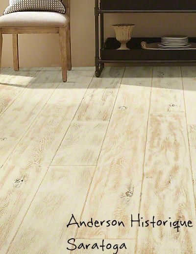 Anderson Historique, Saratoga engineered and heavily scraped oak hardwood.