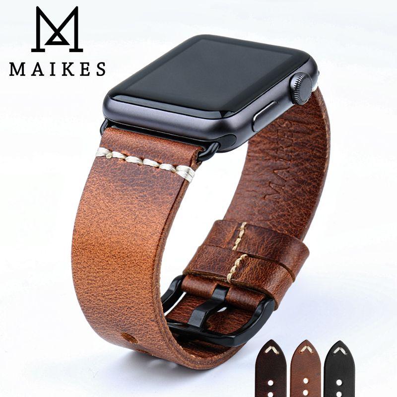 Maikes New Design Watch Accessories Watchband For Apple Watch Bands 42mm Kozhanyj Remeshok Dlya Chasov Kozhanye Chasy Aksessuary