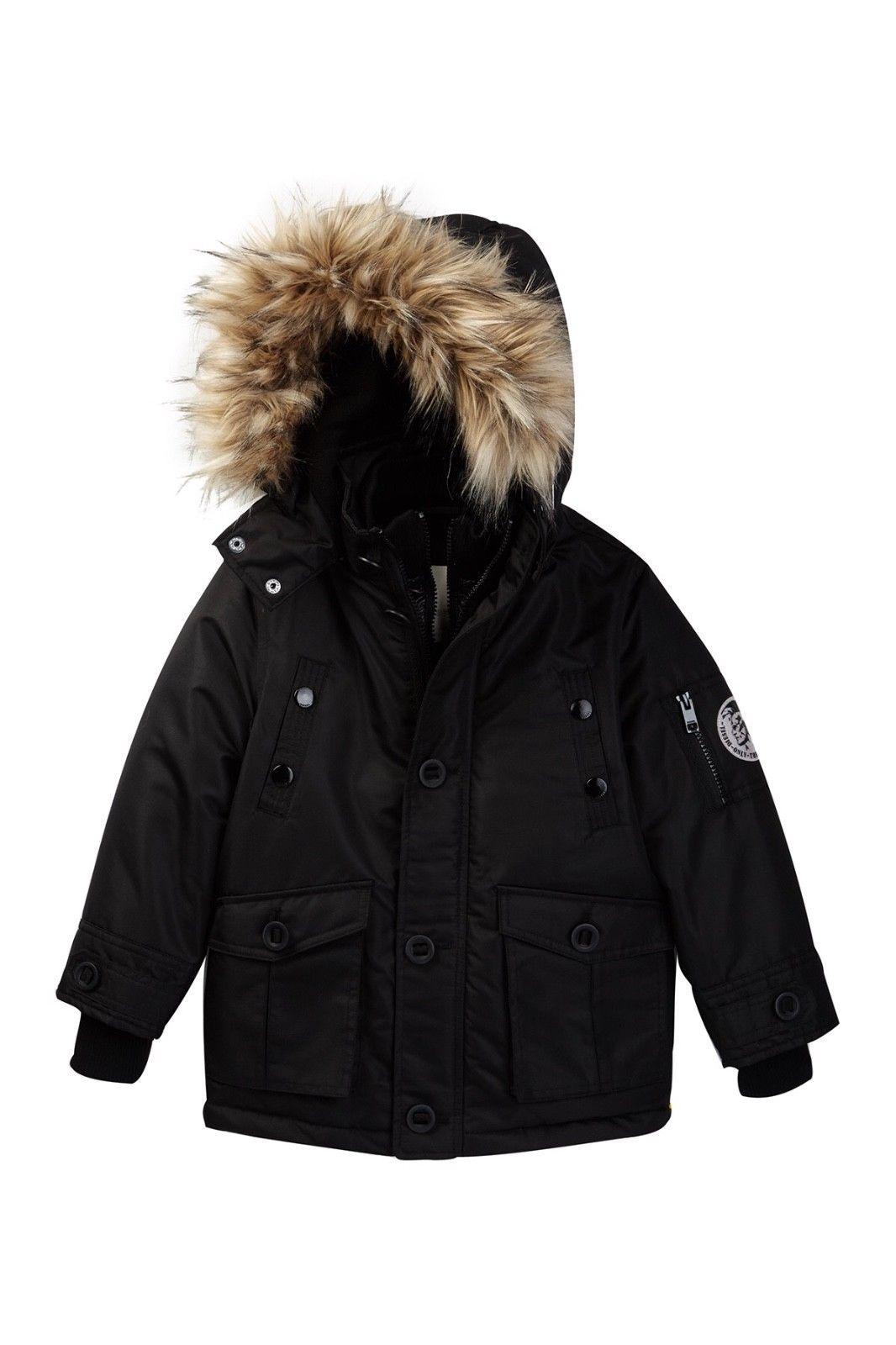 3314f0ce4 Outerwear 51933  Diesel Boy S Size 10-12 Parka Coat Jacket Black ...
