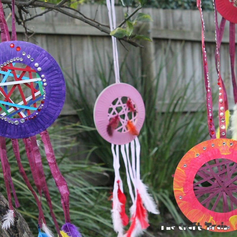 Paper Dream Catchers Diy crafts for kids easy, Crafts