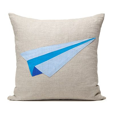 Paper Airplane Pillow Cover | Airplane