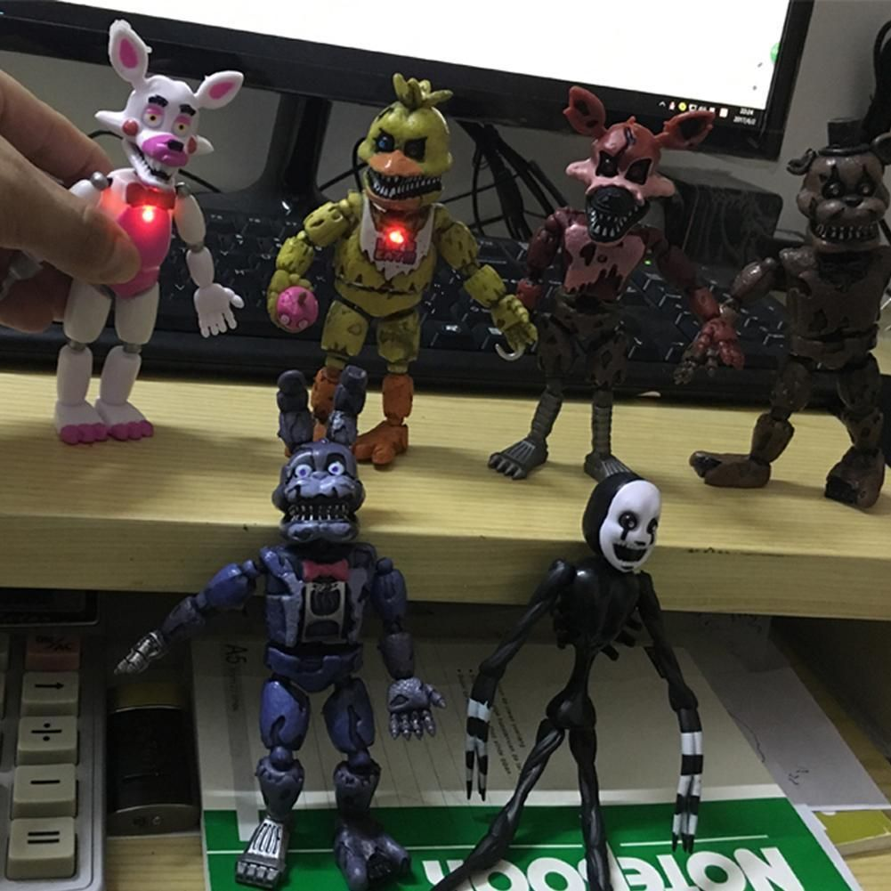 """6 PCS Five Nights At Freddy/'s FNAF Bunnie Game 6/"""" Action Figure Doll Toys Gift"""