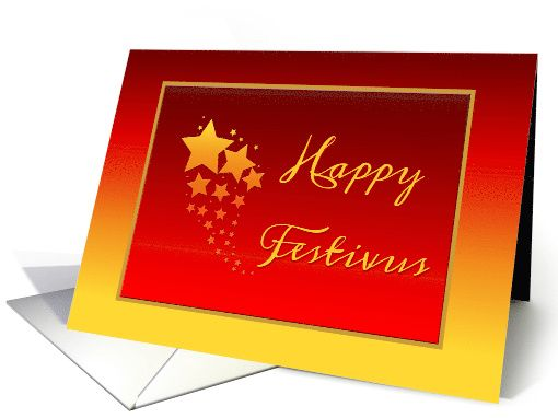 Happy festivus gold and red card with stars card happy festivus happy festivus gold and red card with stars card thank you customer in missouri m4hsunfo
