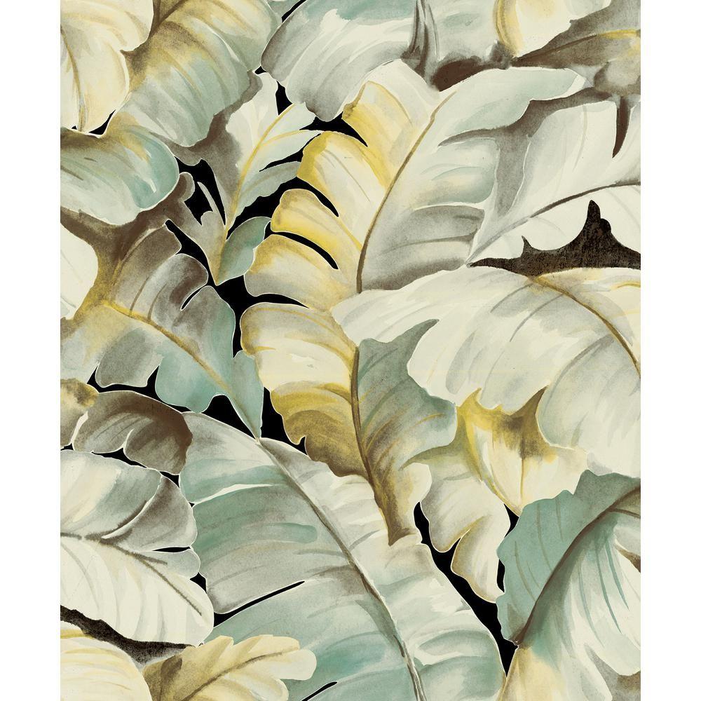Advantage Ramsay Green Banana Leaf Wallpaper Sample