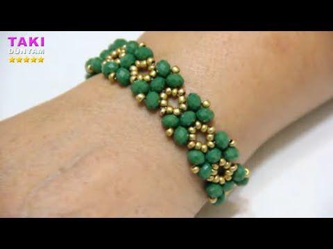Jewelry Design - Wonderful Bangle Making - Sand Beads And Crystal Bangle-TUTORİAL-DIY