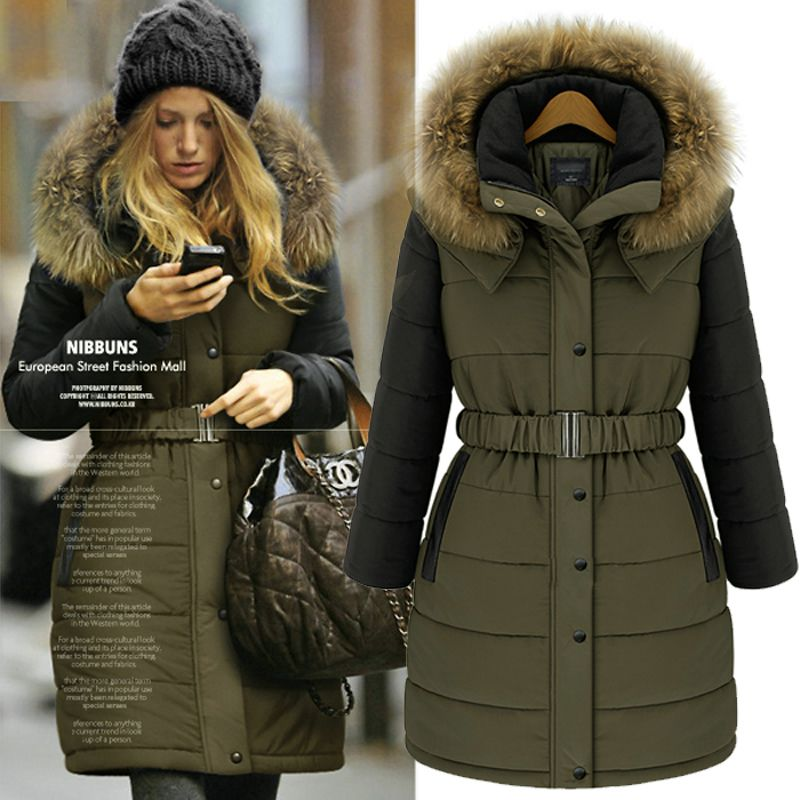 Rud by Rudsak 'Joannie' Belted Puffer Coat with Genuine Coyote Fur ...