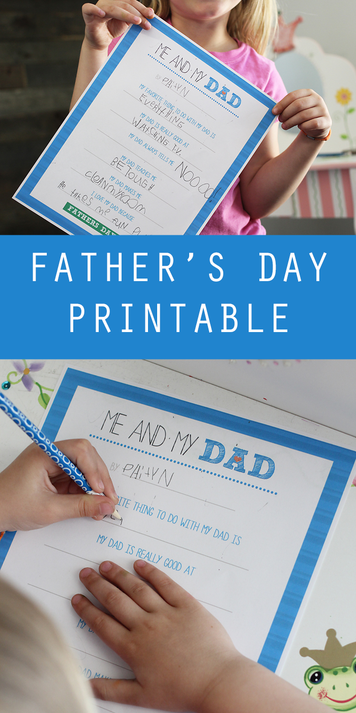 Me and My Dad  Father's Day Printable is part of DIY Kids Crafts For Dad - This Father's Day printable questionnaire is free for kids to print and fill out for dad The perfect Father's Day gift this year is free!