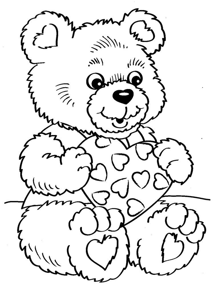 Valentines Day Coloring Pages Printable Cards in 2020 ...