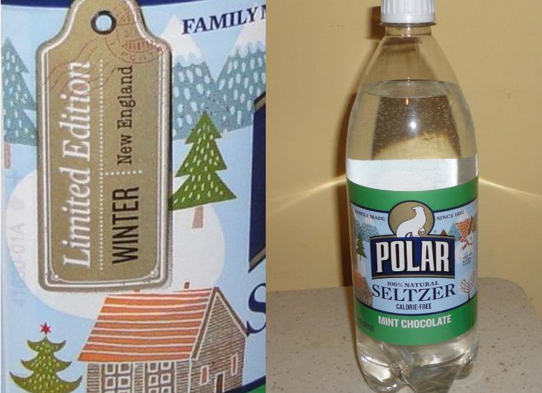 Polar Mint Chocolate Seltzer Water Limited Edition Mint Chocolate Seltzer Water Seltzer