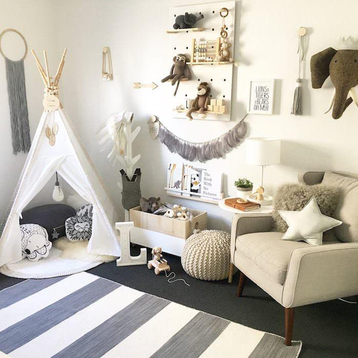 Neutral Scandinavian Nursery with a Touch of Boho - Lynzy ...
