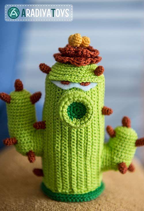 Cactus (plants vs zombies) amigurumi pattern by AradiyaToys