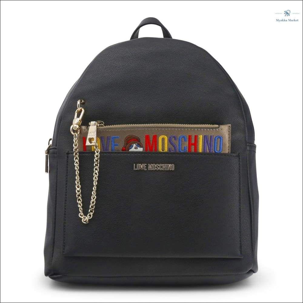 Love Moschino JC4277PP06KK Moschino bag, Black leather