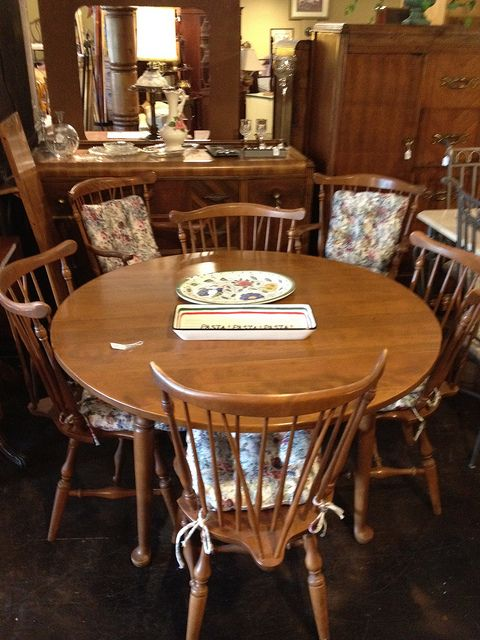 Ethan Allen Dining Table W 6 Chairs 1 Leaf By Newleafgalleries