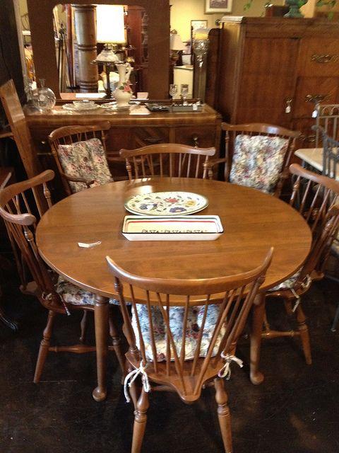 Ethan Allen Dining Table W/6 Chairs U0026 1 Leaf By Newleafgalleries, Via Flickr