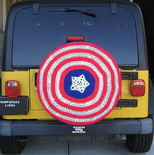 Captain America Spare Tire Cover Neat Crafts Spare Tire Covers