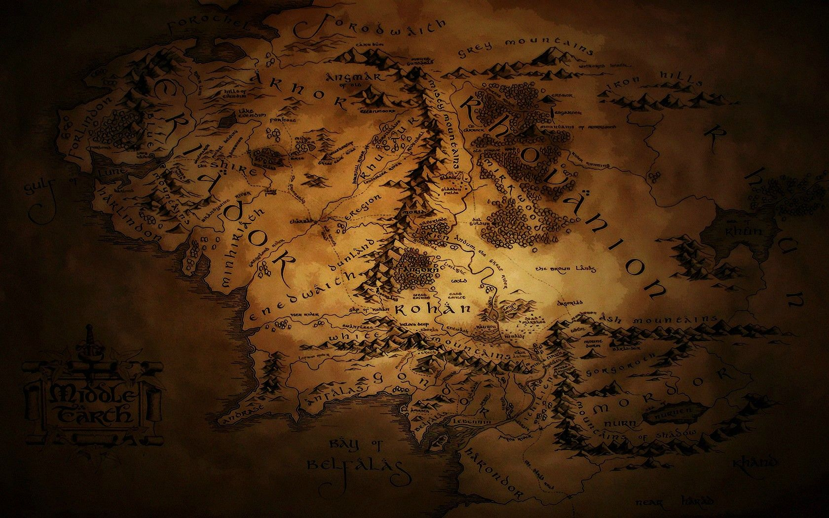 Tolkien Wallpapers Middle Earth Map Middle Earth Lord Of The