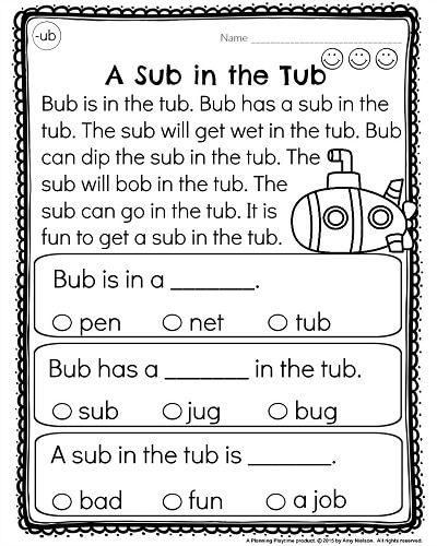 Kindergarten Reading Comprehension Passages   Kindergarten reading ...