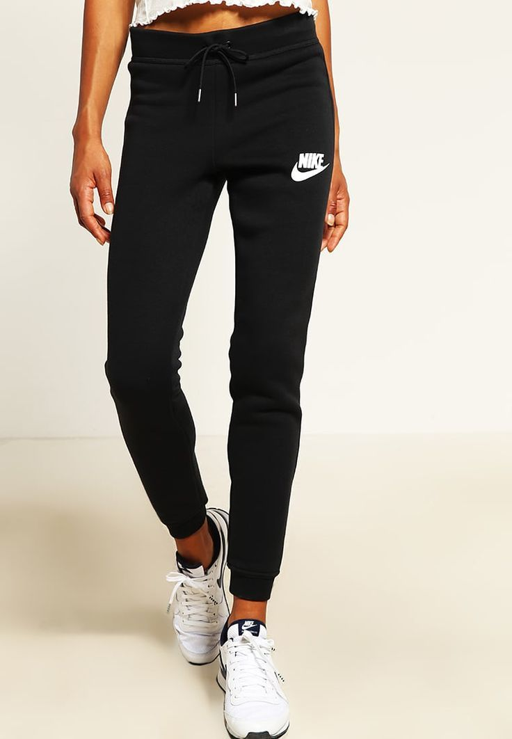 Nike Sportswear RALLY Sweatpants black / antique silver ...