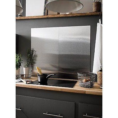 Brushed Stainless Steel Splashback Kitchen Cooker Wall Protector