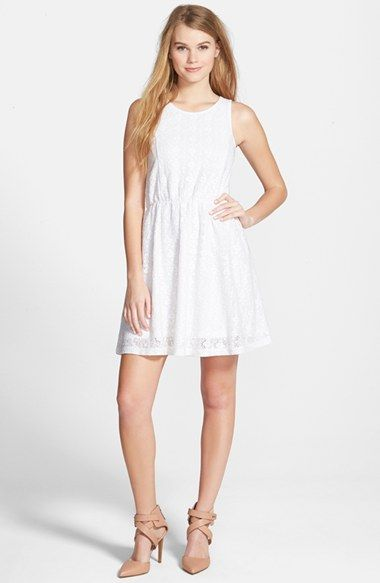 Frenchi® Frenchi Lace Skater Dress available at  Nordstrom  2d7df42c4