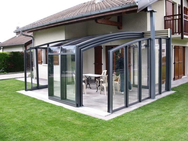 Coperture in alluminio e vetro per terrazzzi | glass walls ...