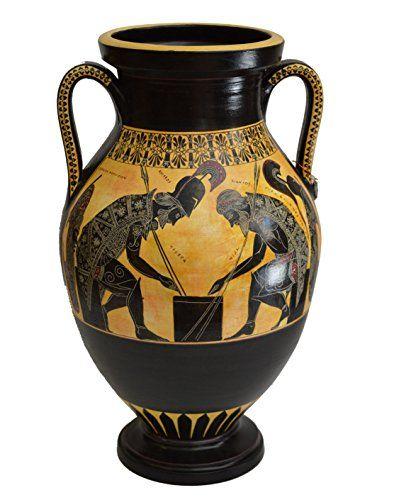 Achilles And Ajax Exekias Ancient Greek Amphora Vase Vatican