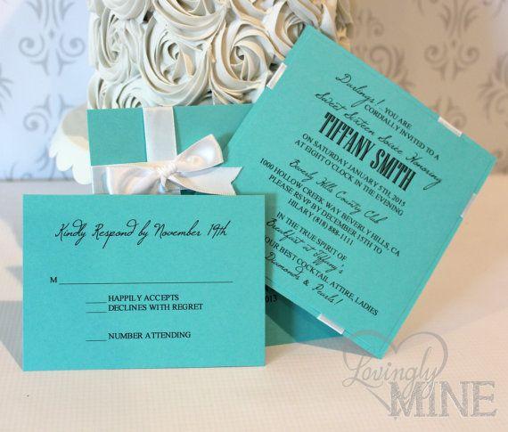 Sweet Sixteen Tiffany Co Inspired Invitations By LovinglyMine