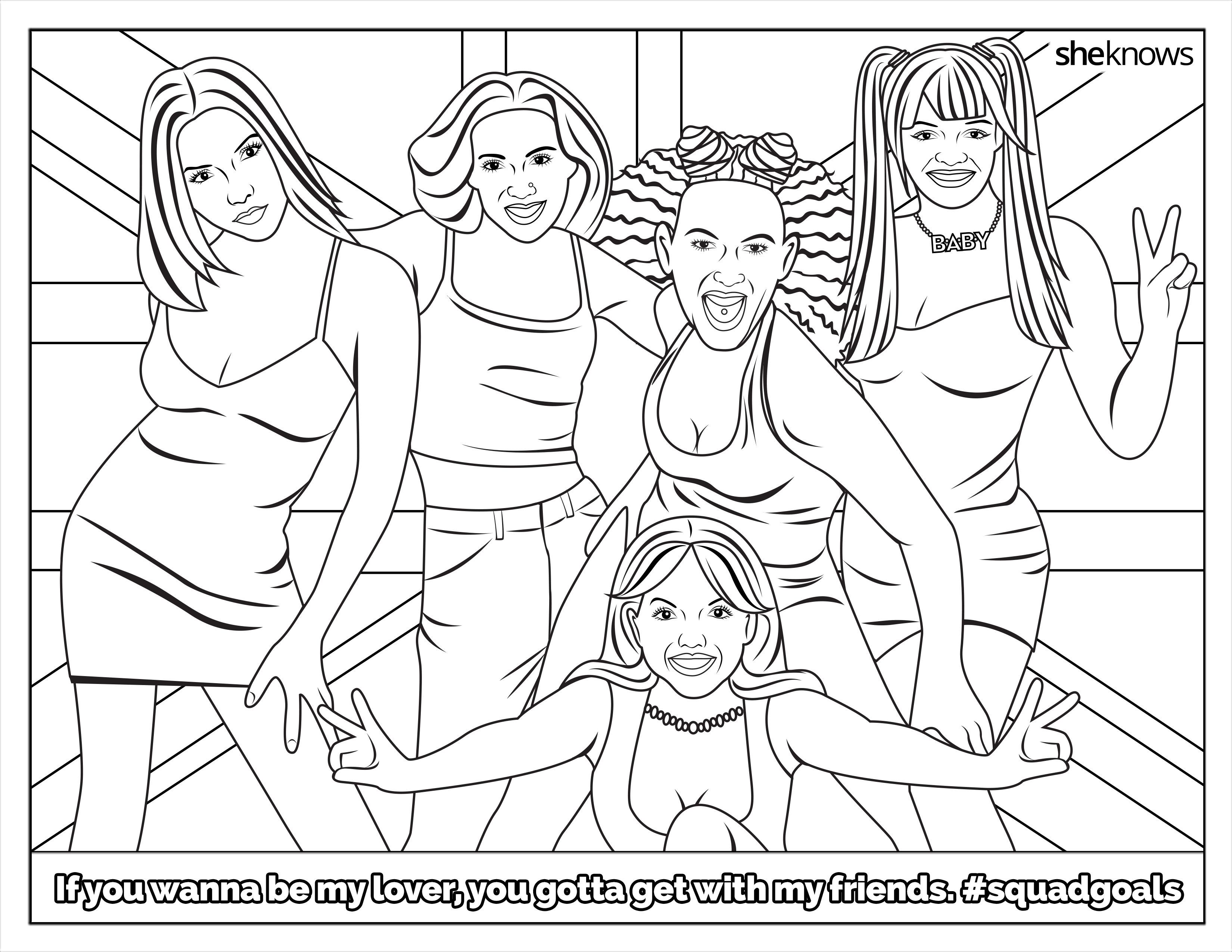 The Ultimate Squadgoals Coloring Book Print It Color It Live