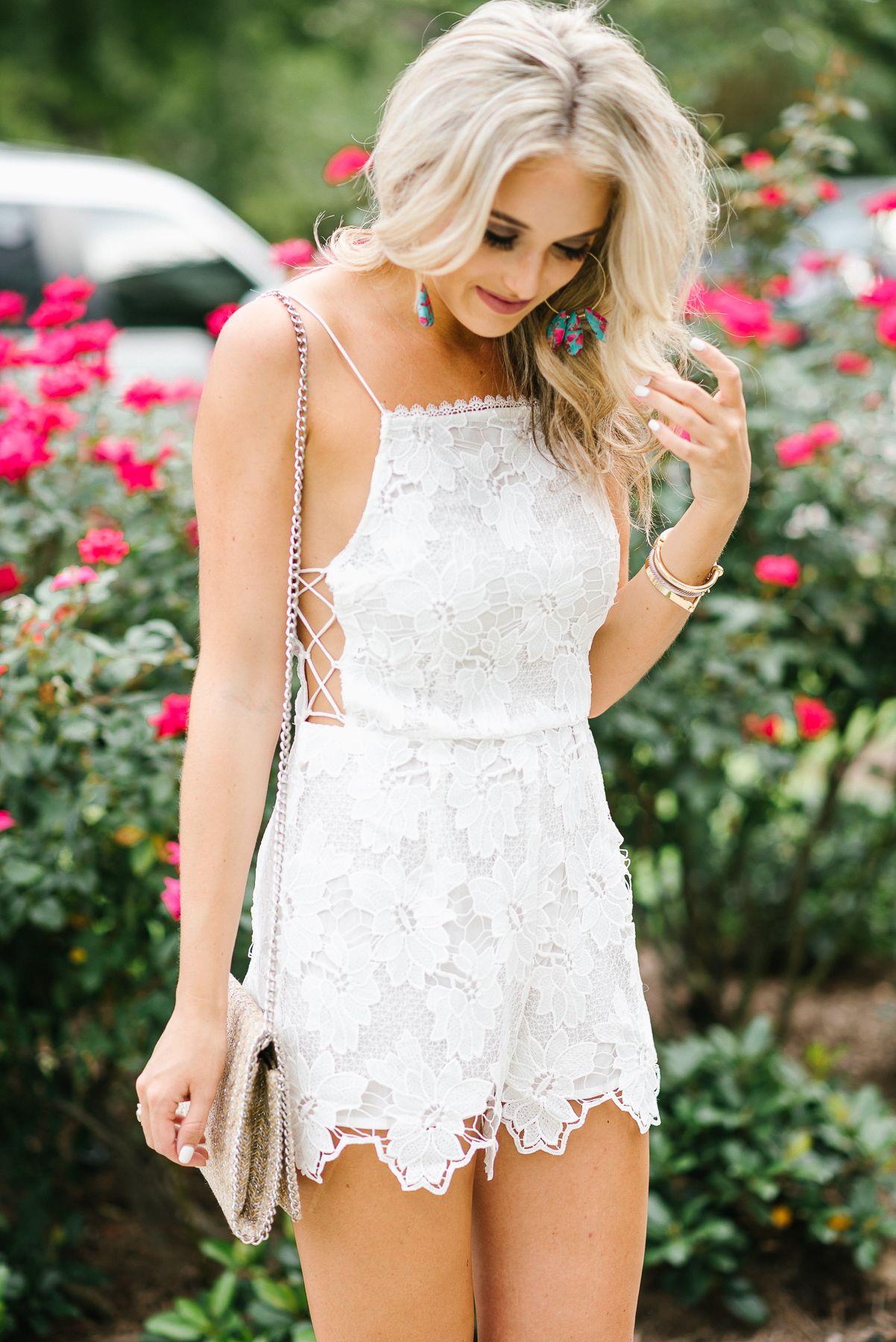 White Lace Romper White Lace Romper Lace Romper White Lace [ 1800 x 1202 Pixel ]