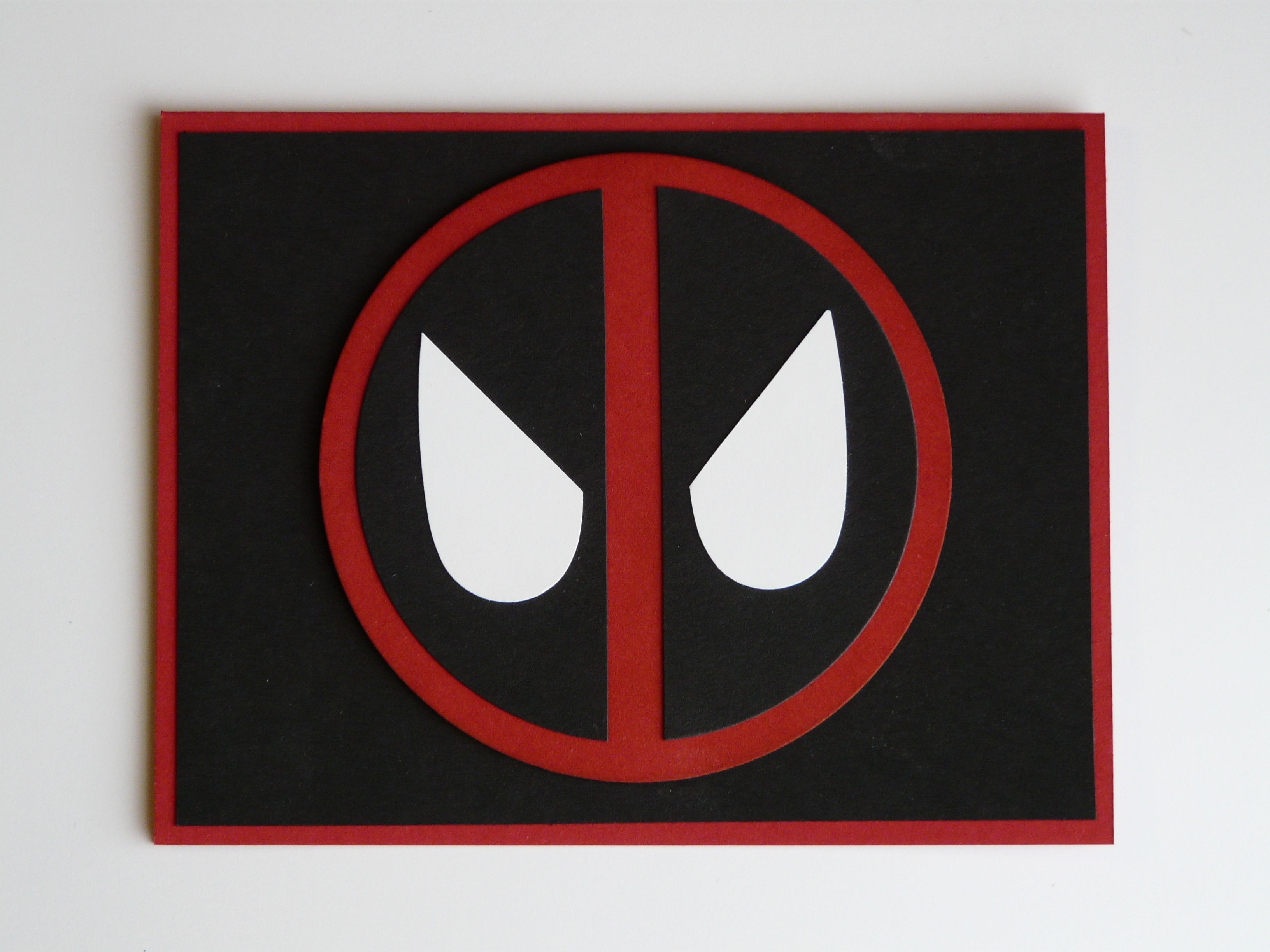 Deadpool Birthday Card 2016 Colors Used Are Real Red Basic Black