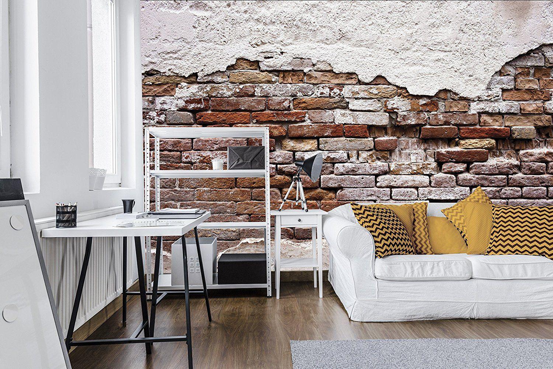 Peindre Un Mur De Brique delester design décor mural papier peint - murs en briques