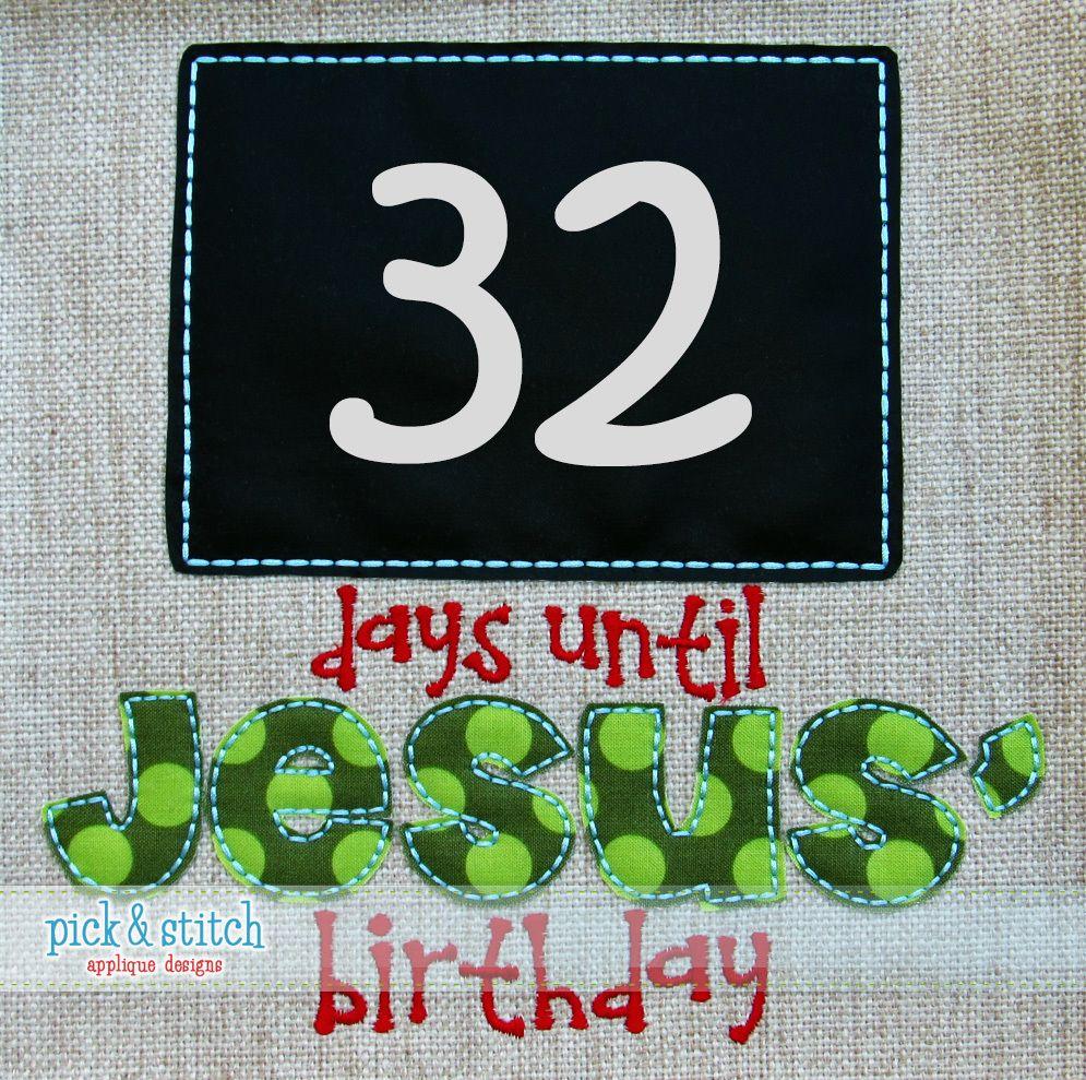 CM Days until Jesus' Birthday 4x4, 5x7, 6x10, 8x8, 8x12